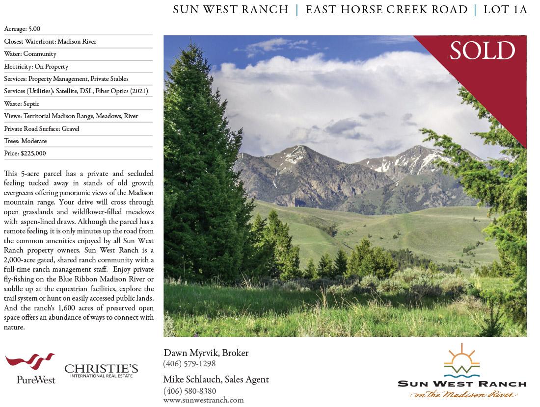 Sun West Ranch - East Horse Creek Road