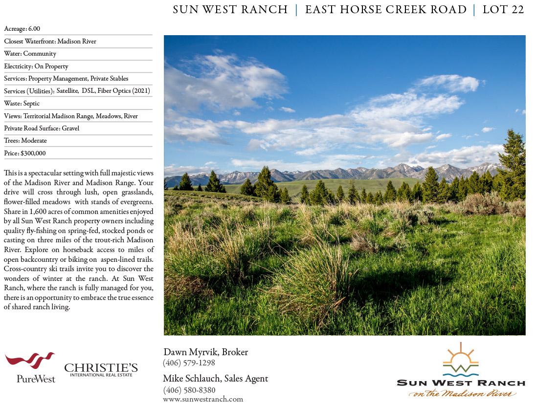 Sun West Ranch - Lot 22