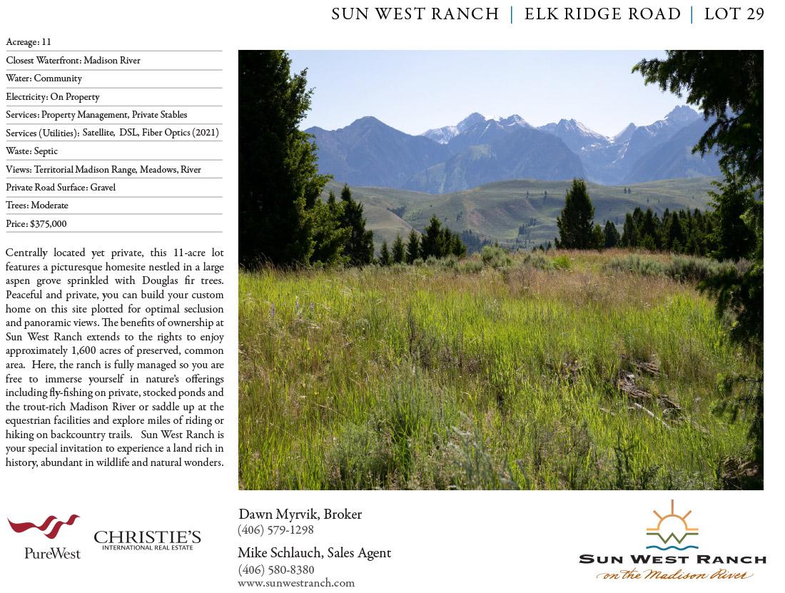 Sun West Ranch - Lot 29