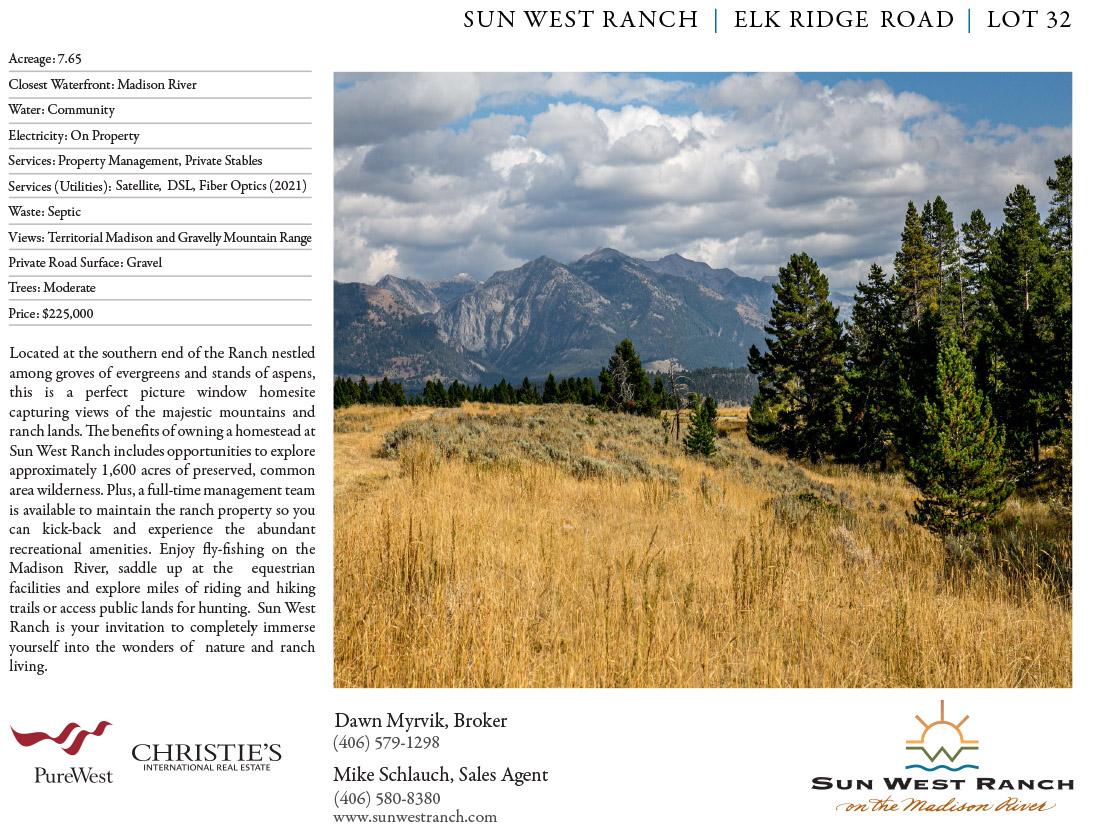 Sun West Ranch Lot 32
