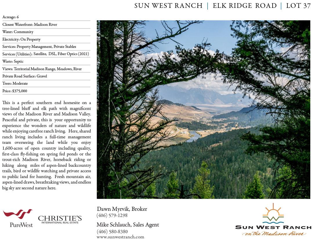 Sun West Ranch - Lot 37