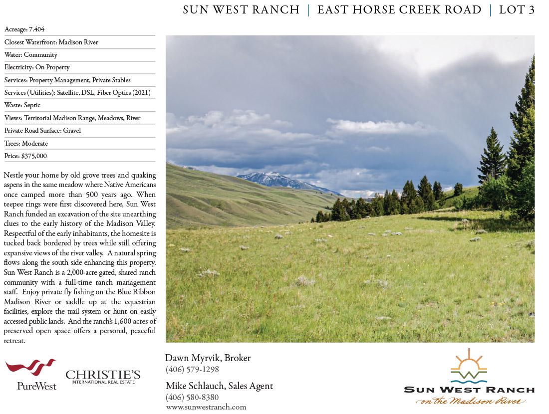 Sun West Ranch Lot 3