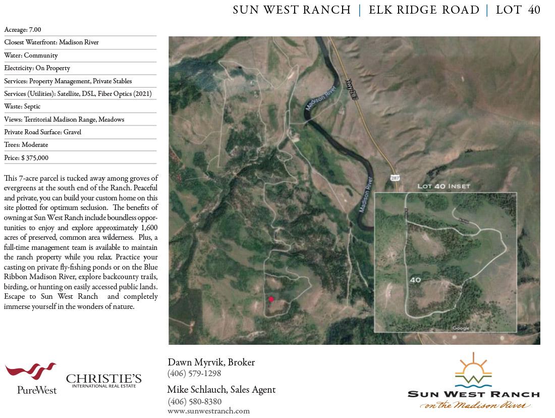 Sun West Ranch - Lot 40